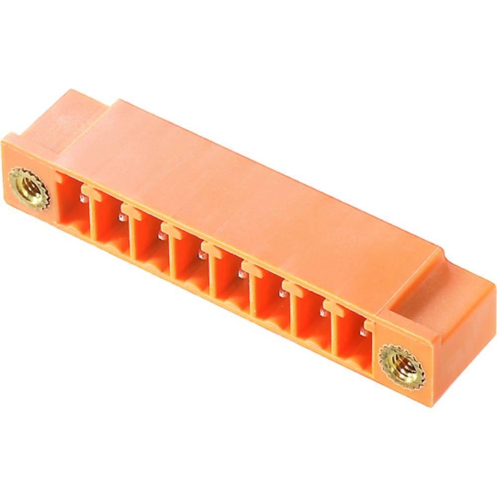 Vtični konektor za tiskana vezja oranžne barve Weidmüller 1942470000 vsebuje: 50 kosov