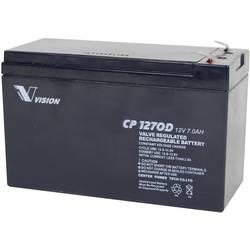 Svinčev akumulator 12 V 7 Ah Vision Akkus VISION CP1270D CP1270D svinčevo-koprenast (AGM) 151 x 100 x 65 mm ploščati vtič 4.8 mm