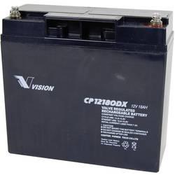 Svinčev akumulator 12 V 18 Ah Vision Akkus VISION CP12180DX CP12180DX svinčevo-koprenast (AGM) 181 x 167 x 77 mm M5-vijačni prik