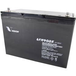 Olovni akumulator 12 V 90 Ah Vision Akkus 6FM90DX 6FM90DX Olovno-koprenasti (Š x V x d) 306 x 215 x 169 mm M6 vijčani priključak