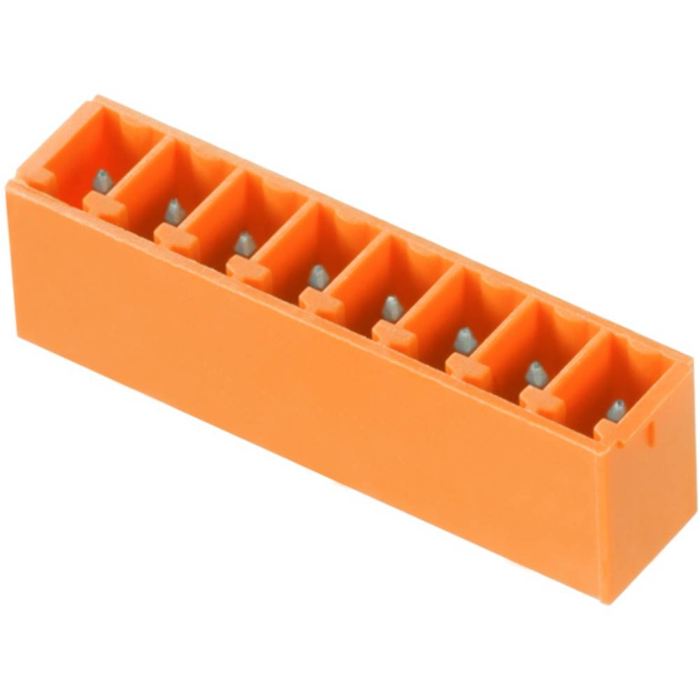 Vtični konektor za tiskana vezja oranžne barve Weidmüller 1942970000 vsebuje: 50 kosov
