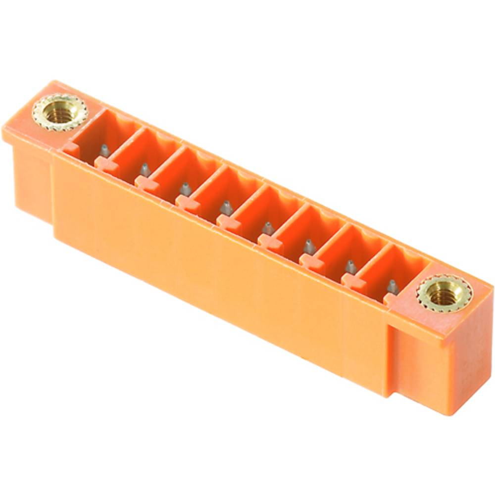 Vtični konektor za tiskana vezja oranžne barve Weidmüller 1943180000 vsebuje: 50 kosov