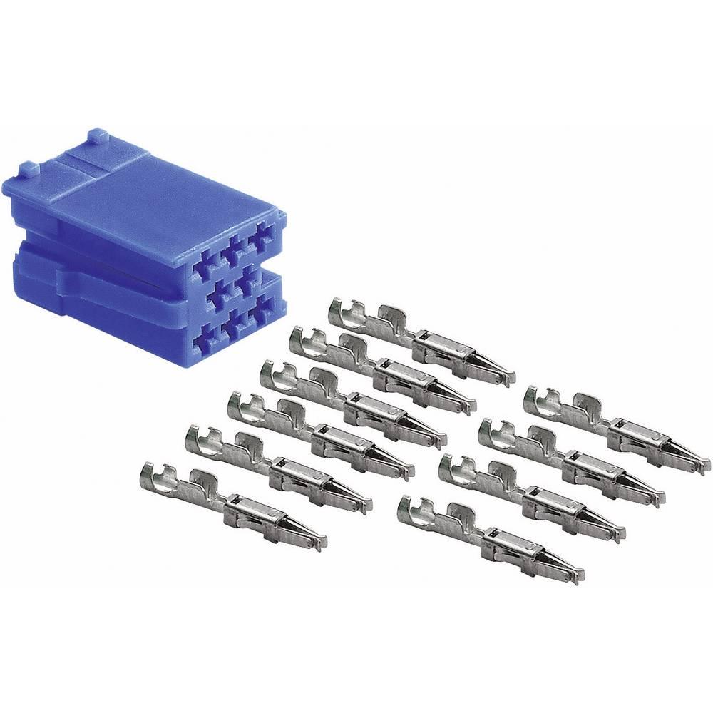 Mini ISO modri vtič + 10 kontaktov AIV