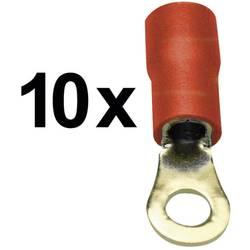 Okrogli kabelski čevelj Sinuslive RKS-1,5, 1.5 mm, izoliran, rdeč, 10 kosov