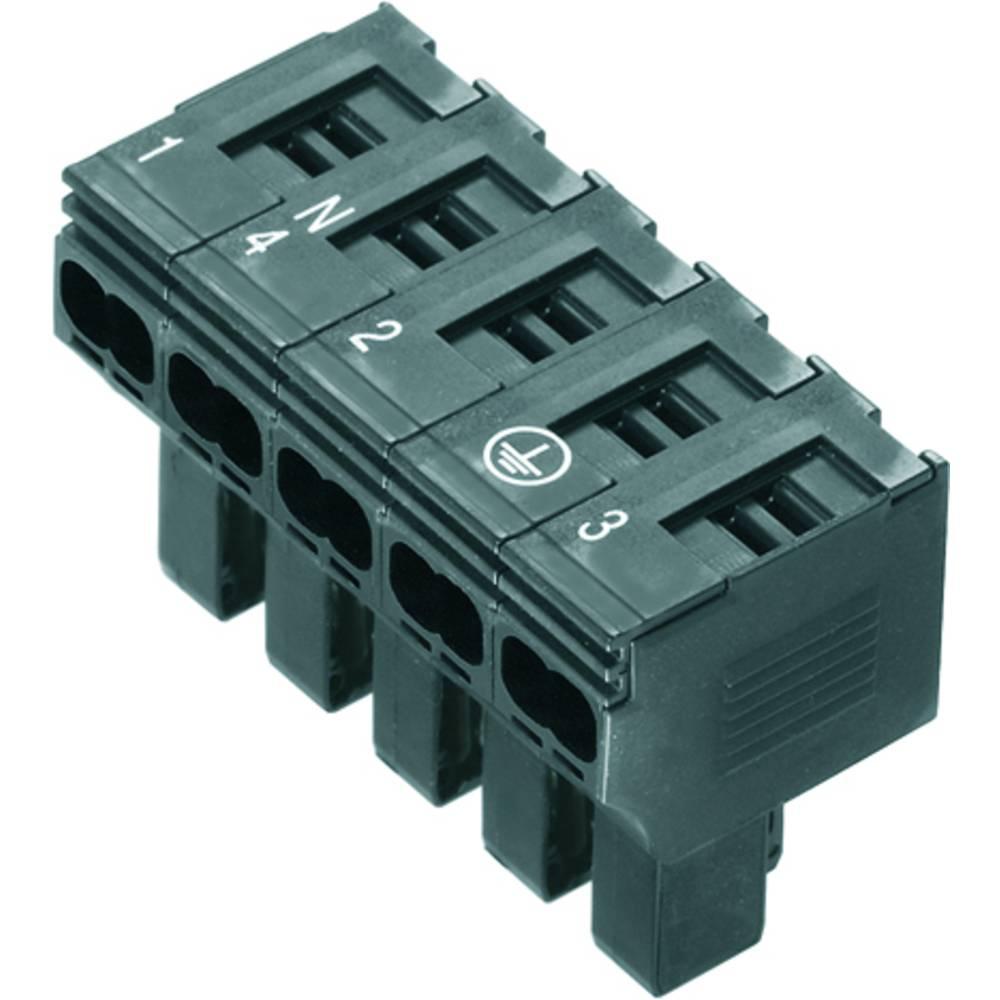 Varnostni vtični priključek, prilagodljVarnostni viv: 0.5-4 mm toga: 0.5-4 mm št. polov: 5 Weidmüller PTDS 4 10 kos črna