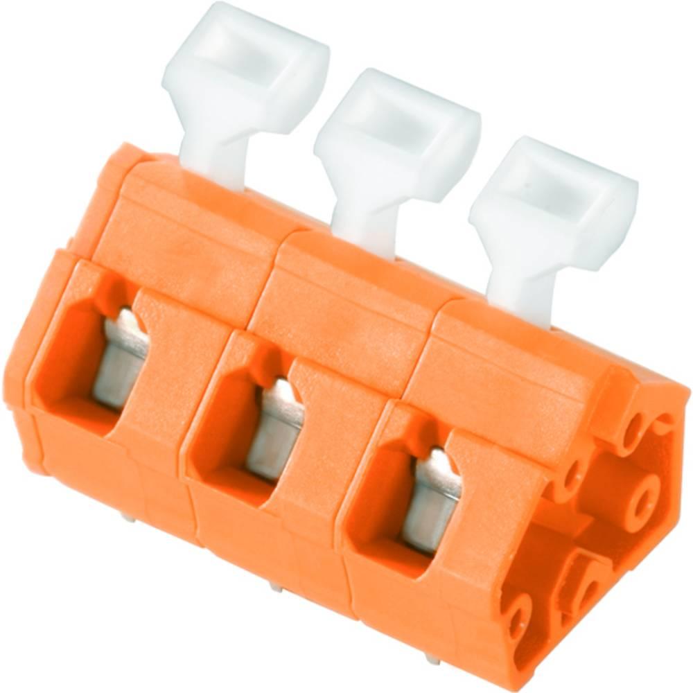 Fjederkraftsklemmeblok Weidmüller LMZFL 7/3/135 3.5OR 2.50 mm² Poltal 3 Orange 100 stk