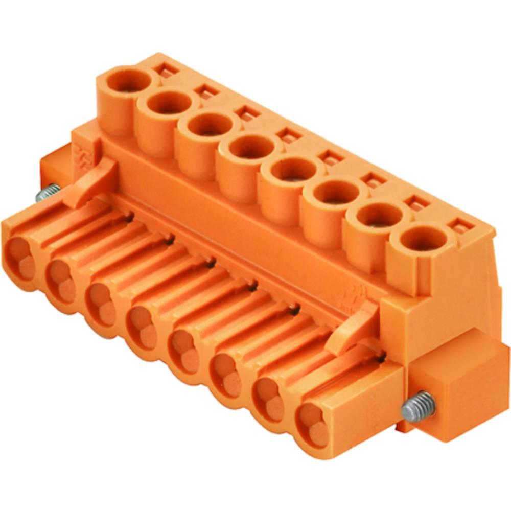 Tilslutningskabinet-kabel BL/SL (value.1360602) Samlet antal poler 8 Weidmüller 1955740000 Rastermål: 5 mm 36 stk