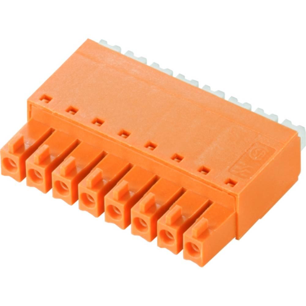 Vtični konektor za tiskana vezja oranžne barve Weidmüller 1969160000 vsebuje: 50 kosov