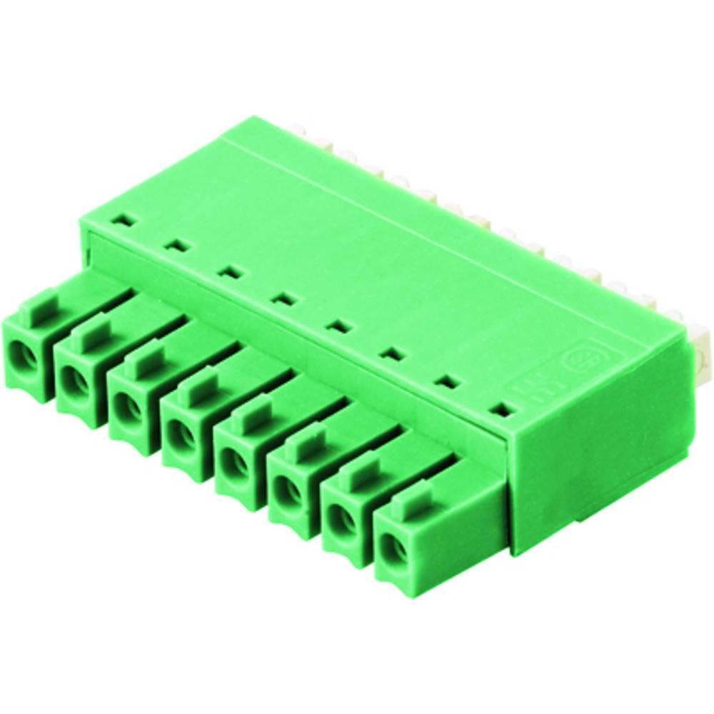 Tilslutningskabinet-kabel BC/SC (value.1360601) Samlet antal poler 8 Weidmüller 0405046/D Rastermål: 3.81 mm 50 stk
