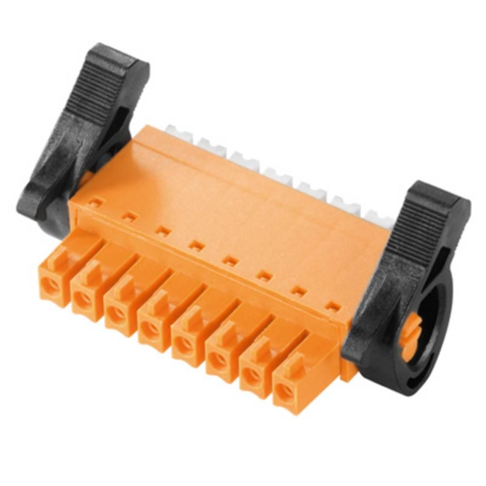 Vtični konektor za tiskana vezja oranžne barve Weidmüller 1972200000 vsebuje: 50 kosov