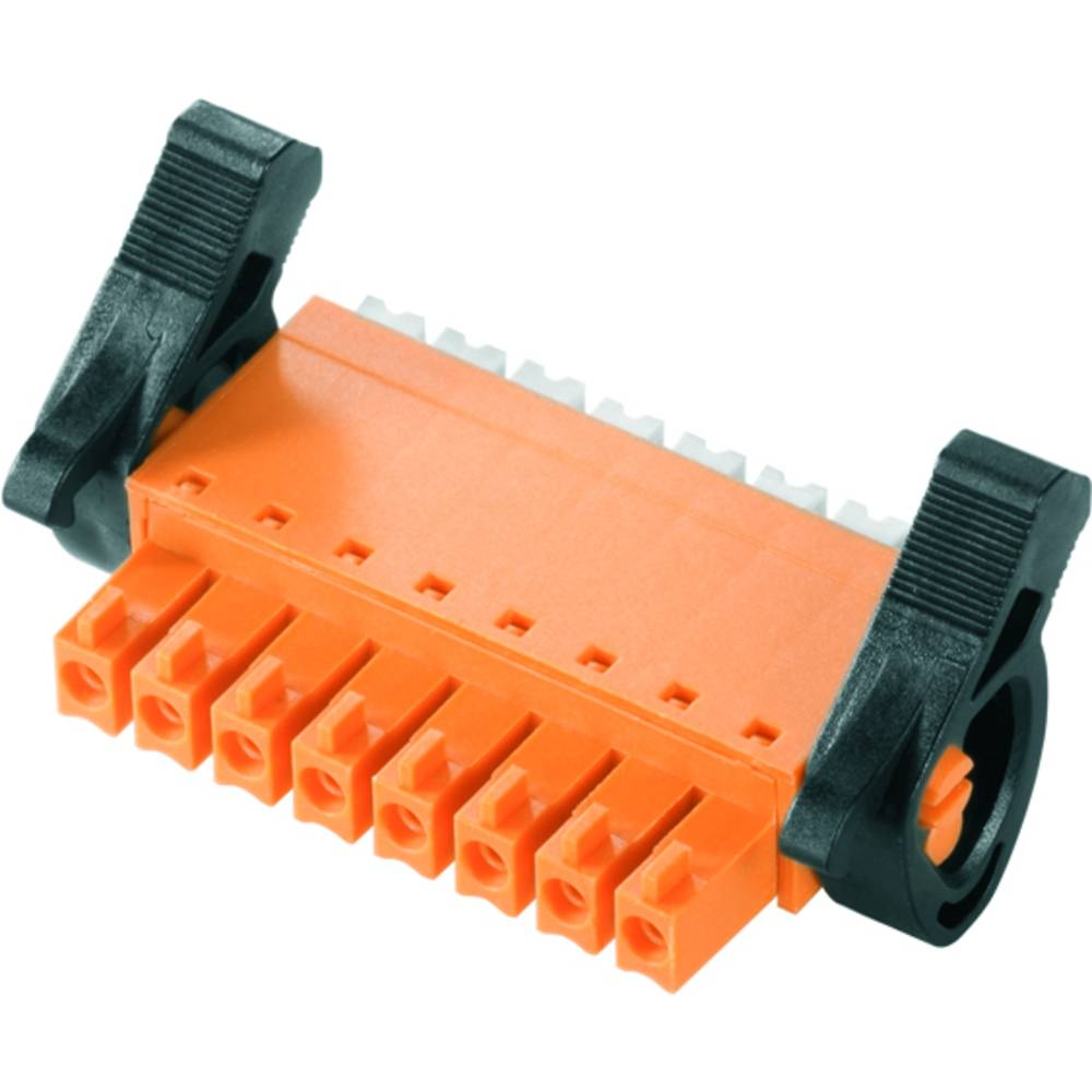 Vtični konektor za tiskana vezja oranžne barve Weidmüller 1972260000 vsebuje: 50 kosov