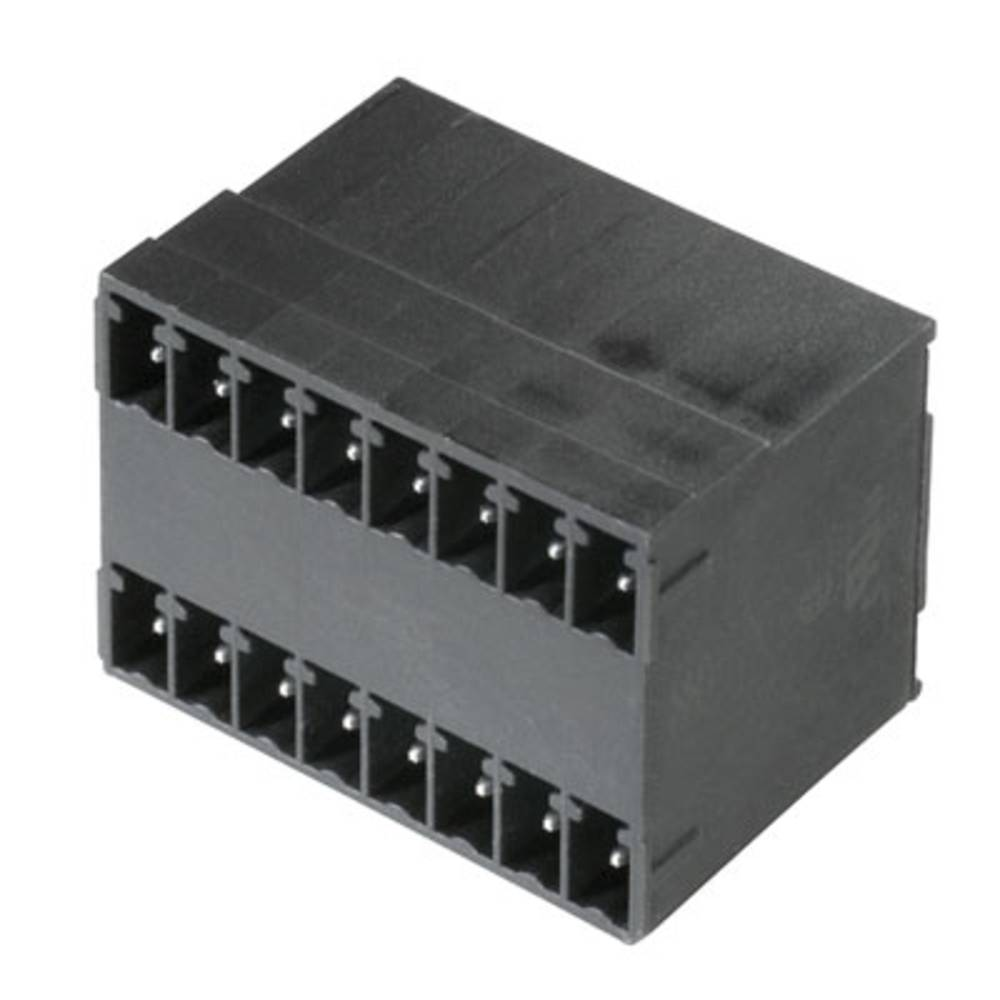Vtični konektor za tiskana vezja črne barve Weidmüller 1973850000 vsebuje: 20 kosov