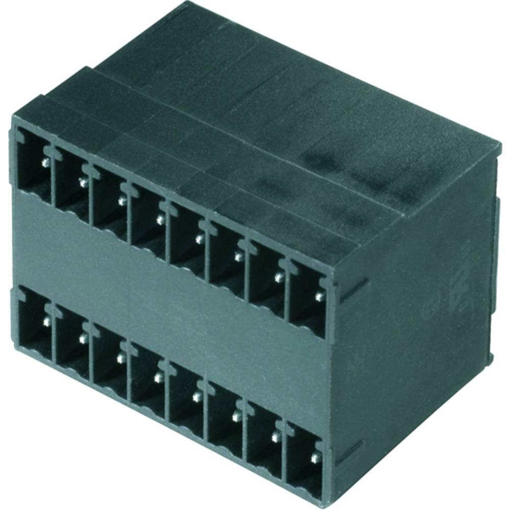 Vtični konektor za tiskana vezja črne barve Weidmüller 1973160000 vsebuje: 50 kosov