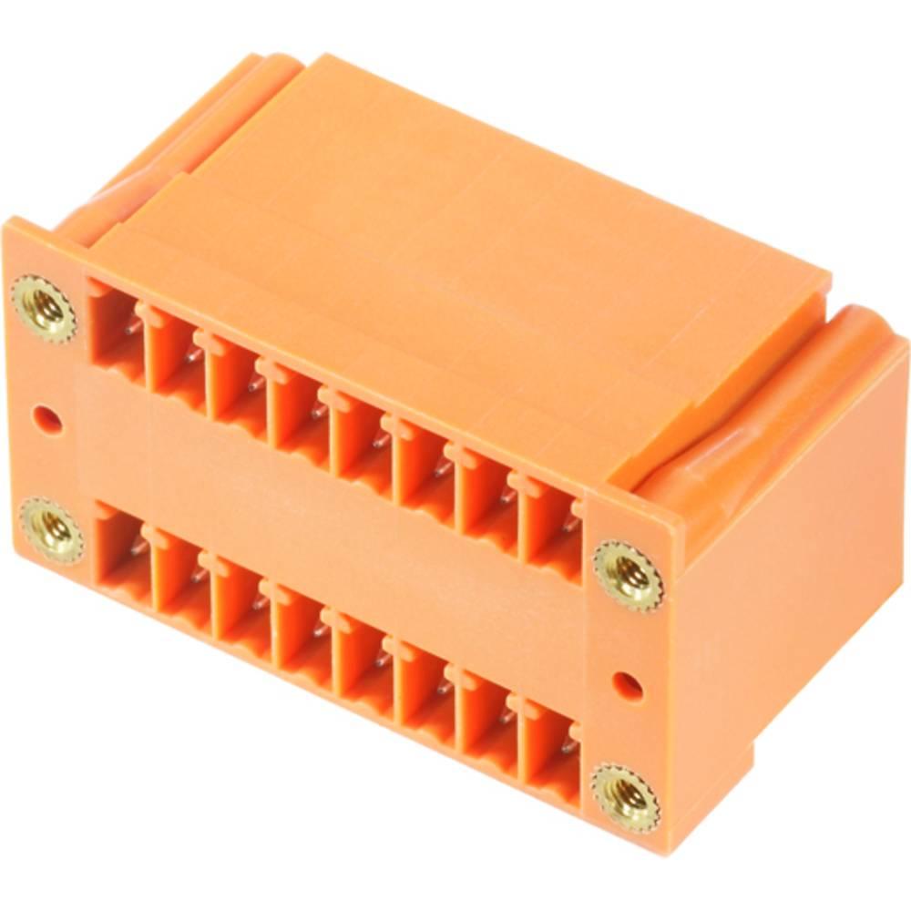 Vtični konektor za tiskana vezja oranžne barve Weidmüller 1973280000 vsebuje: 50 kosov