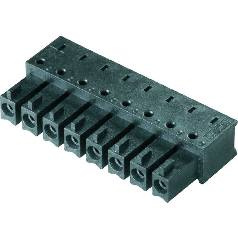 Vtični konektor za tiskana vezja črne barve Weidmüller 1974800000 vsebuje: 50 kosov