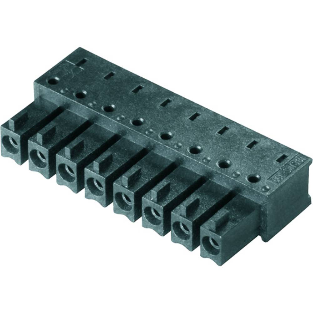 Vtični konektor za tiskana vezja črne barve Weidmüller 1974820000 vsebuje: 50 kosov