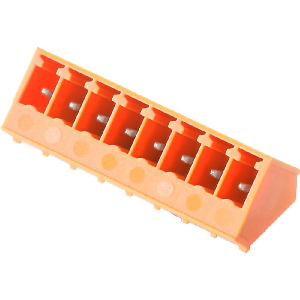 Vtični konektor za tiskana vezja oranžne barve Weidmüller 1975950000 vsebuje: 50 kosov