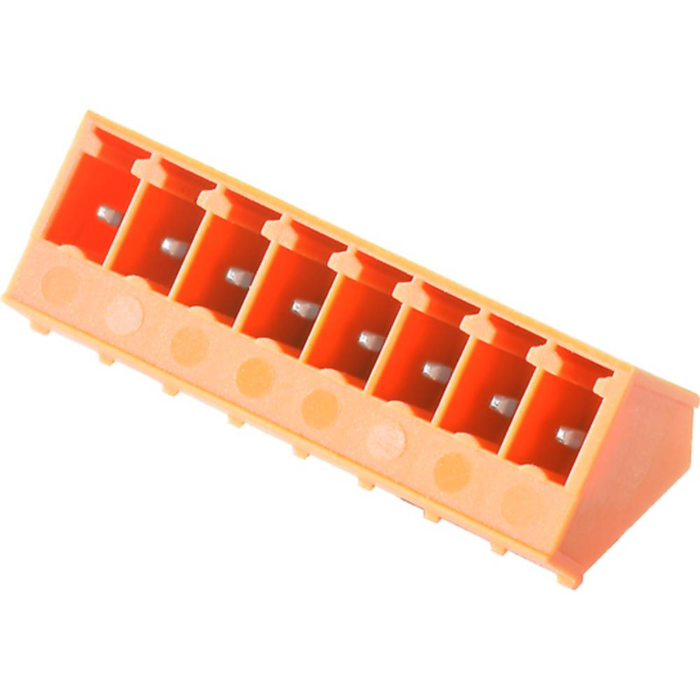 Vtični konektor za tiskana vezja oranžne barve Weidmüller 1975960000 vsebuje: 50 kosov