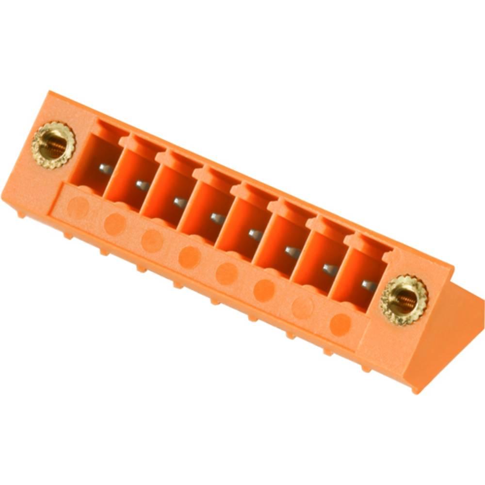 Vtični konektor za tiskana vezja oranžne barve Weidmüller 1976880000 vsebuje: 50 kosov