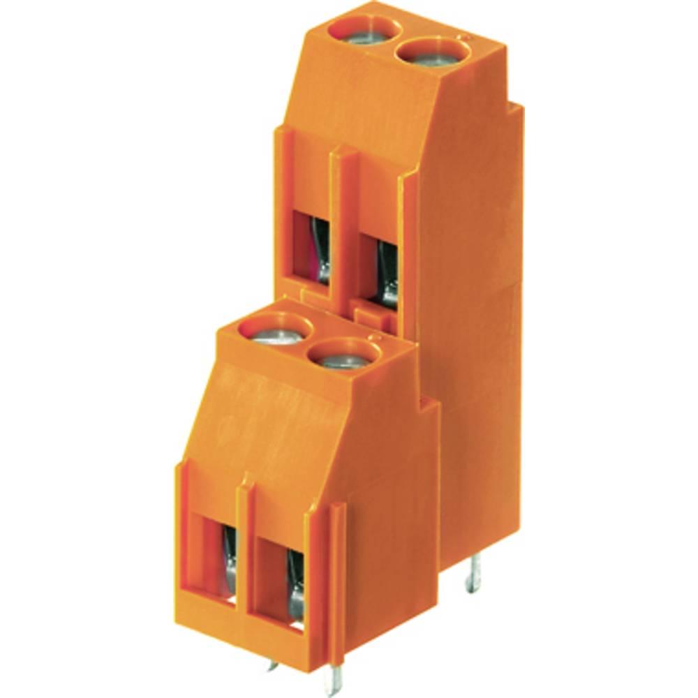 Dobbeltrækkeklemme Weidmüller LL2N 5.08/24/90 3.2SN OR BX 4.00 mm² Poltal 24 Orange 10 stk