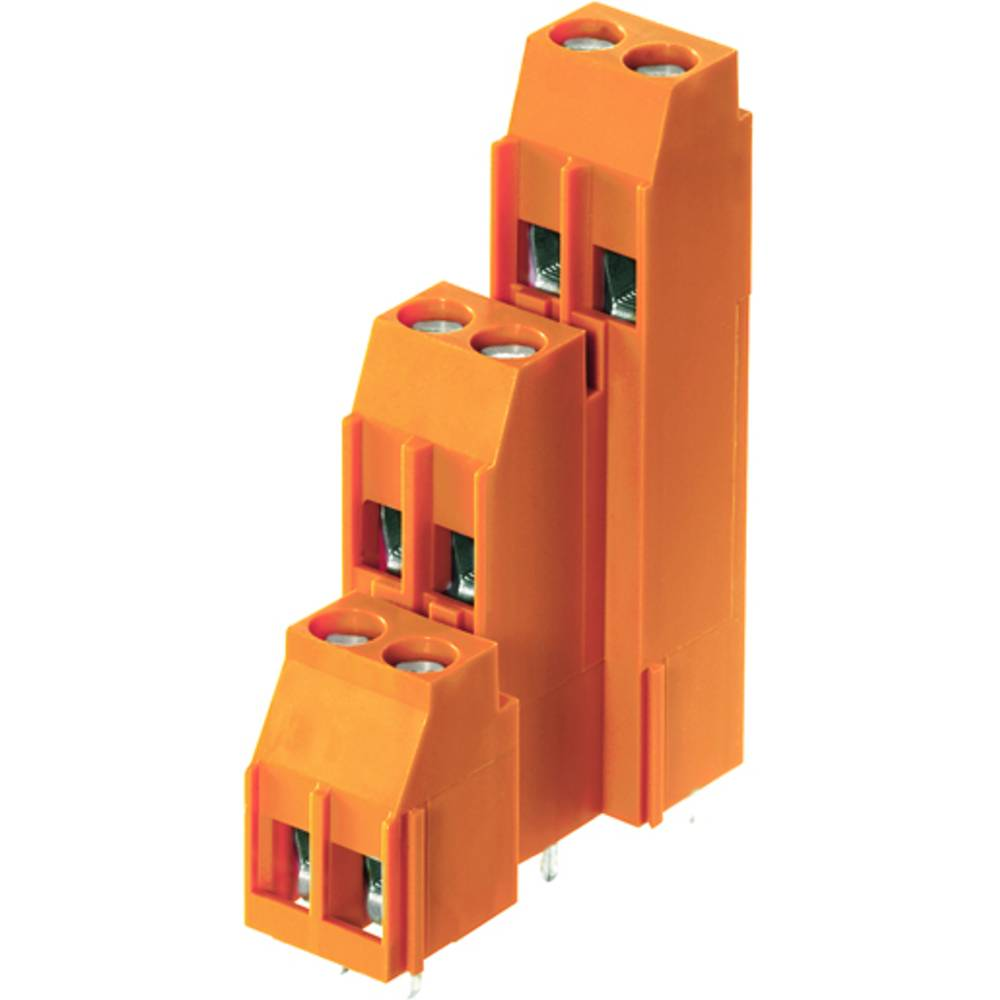 Tre-etagesklemme Weidmüller LL3R 5.08/24/90 3.2SN OR BX 4.00 mm² Poltal 24 Orange 20 stk