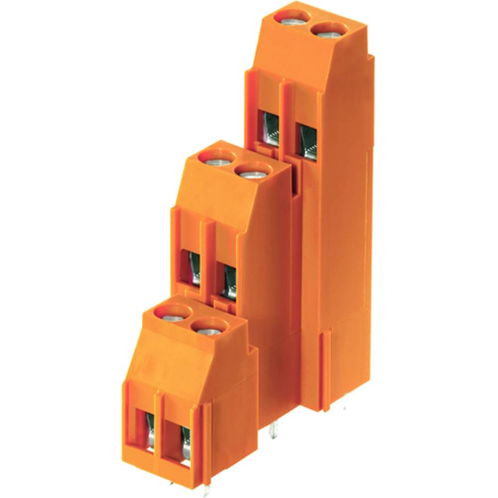 Tre-etagesklemme Weidmüller LL3R 5.08/54/90 3.2SN OR BX 4.00 mm² Poltal 54 Orange 10 stk