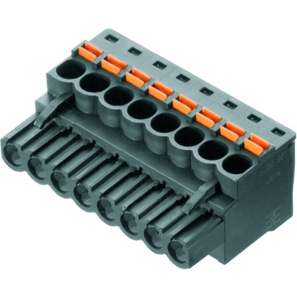Vtični konektor za tiskana vezja črne barve Weidmüller 1979330000 vsebuje: 42 kosa