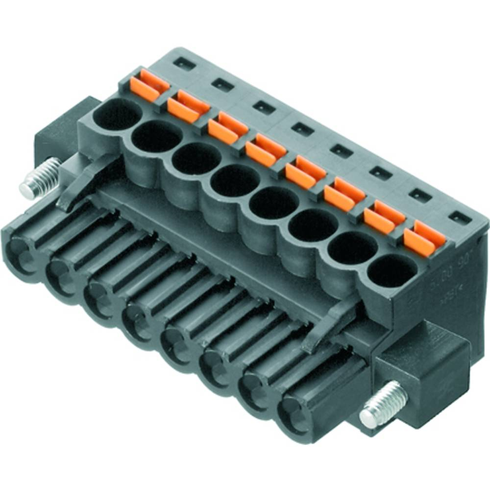 Vtični konektor za tiskana vezja črne barve Weidmüller 1979520000 vsebuje: 36 kosov