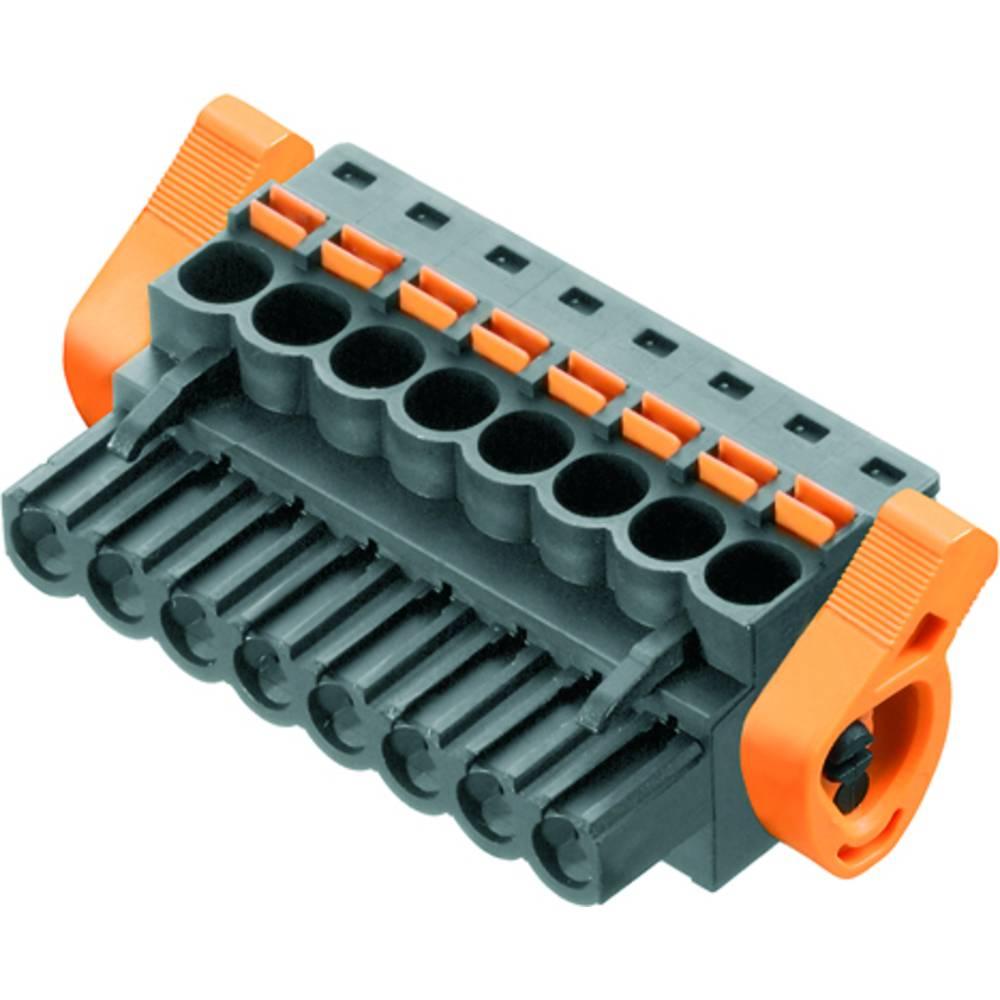 Vtični konektor za tiskana vezja črne barve Weidmüller 1980060000 vsebuje: 30 kosov