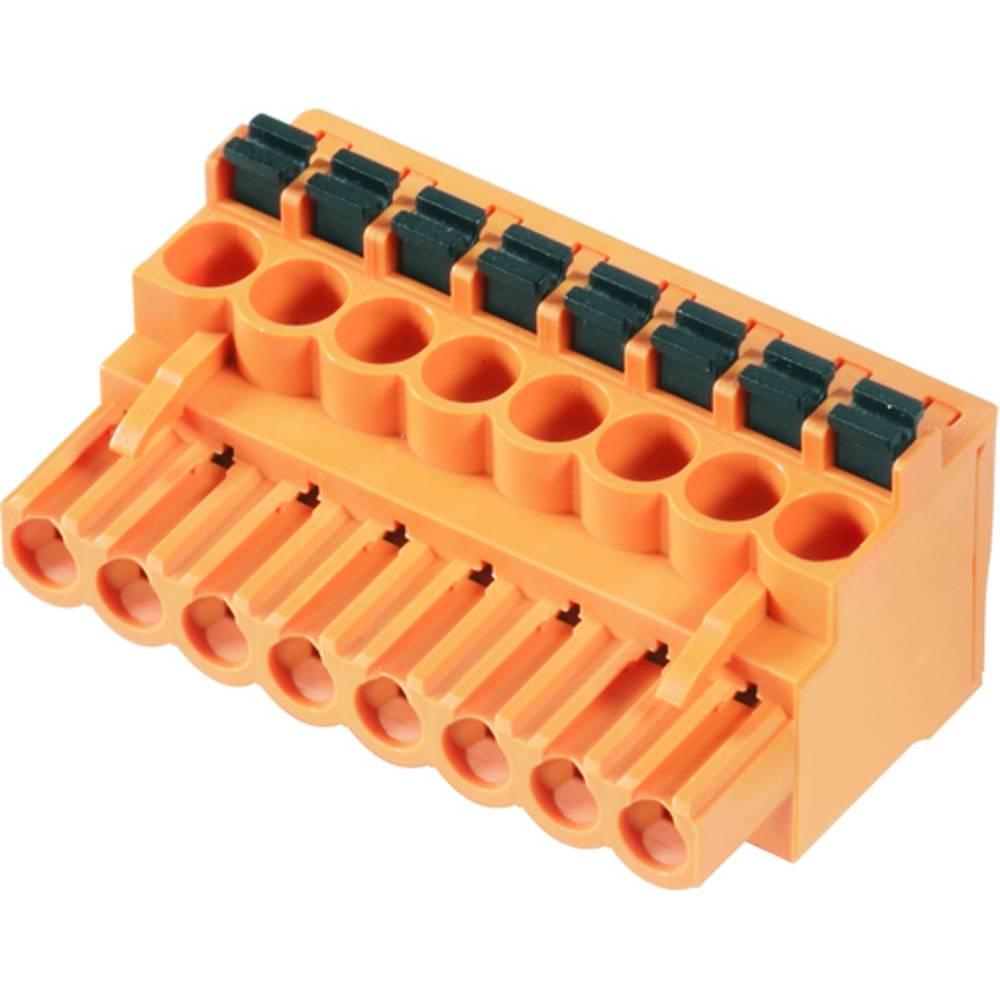 Vtični konektor za tiskana vezja oranžne barve Weidmüller 1980230000 vsebuje: 42 kosa