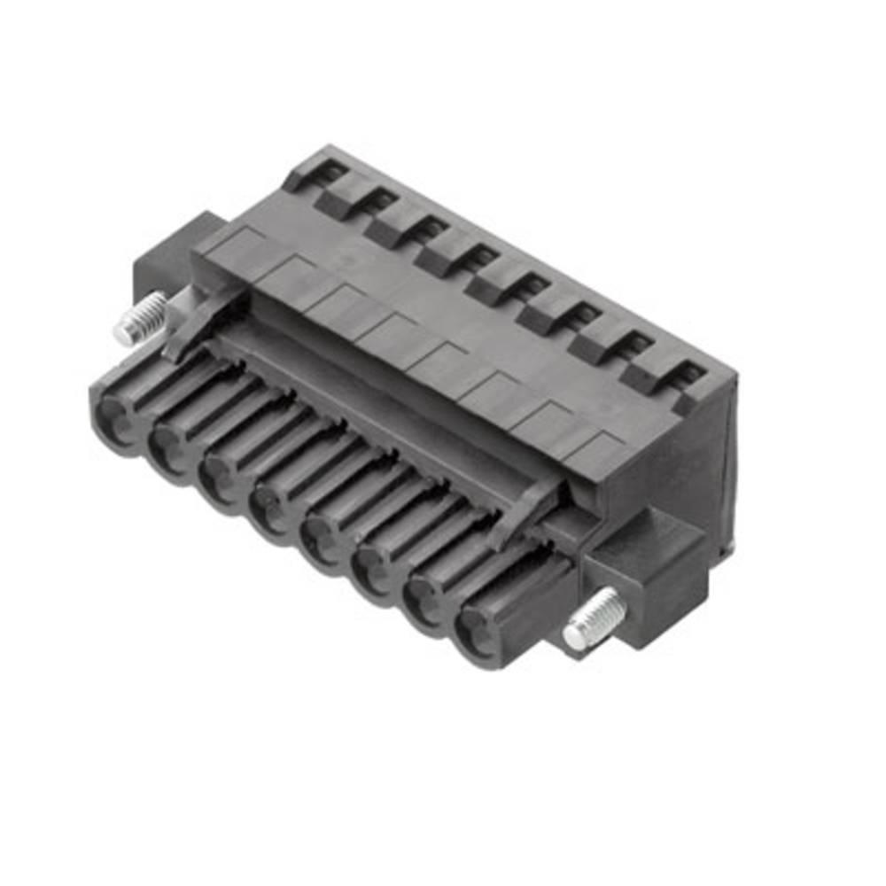 Vtični konektor za tiskana vezja črne barve Weidmüller 1982280000 vsebuje: 18 kosov