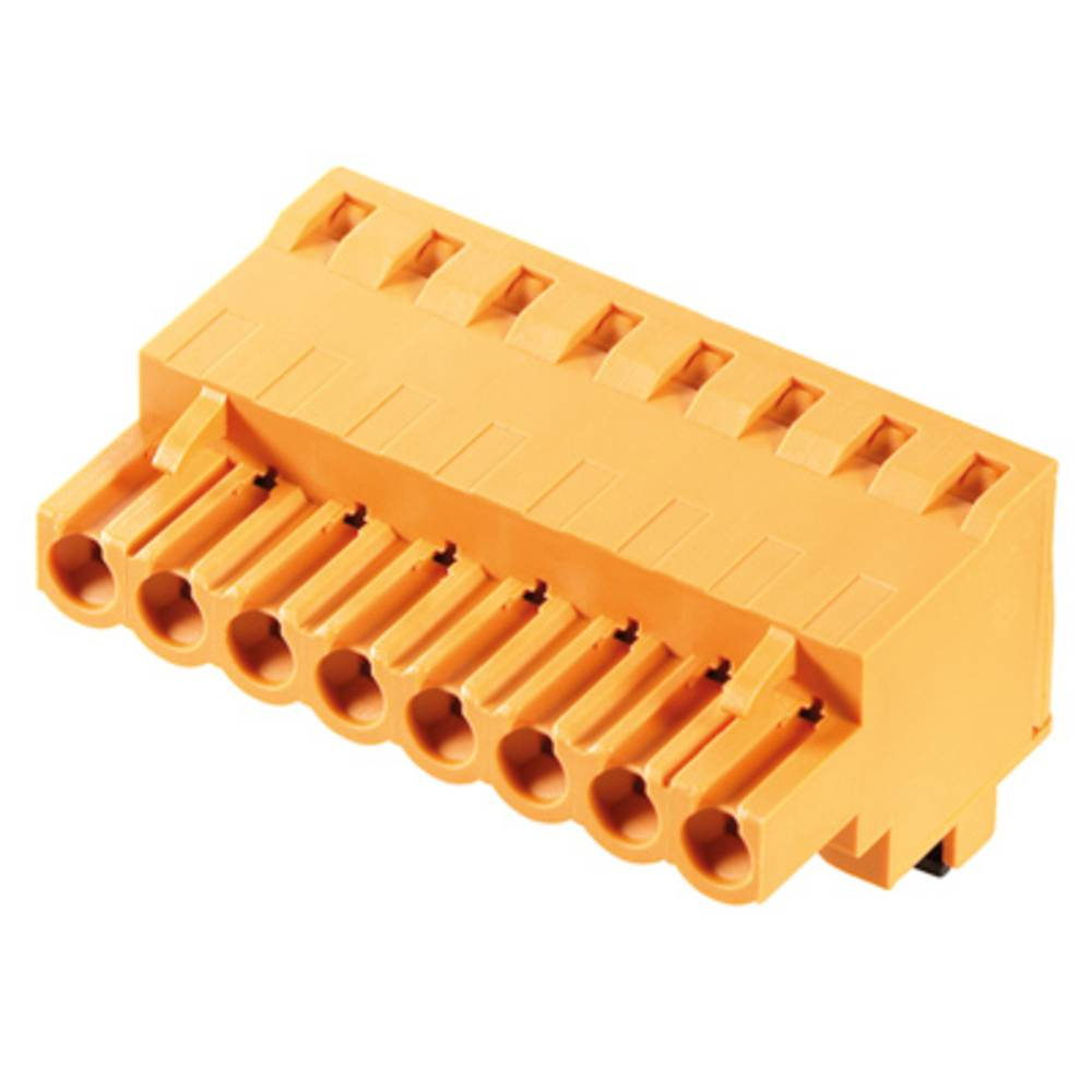 Vtični konektor za tiskana vezja oranžne barve Weidmüller 1982700000 vsebuje: 180 kosov