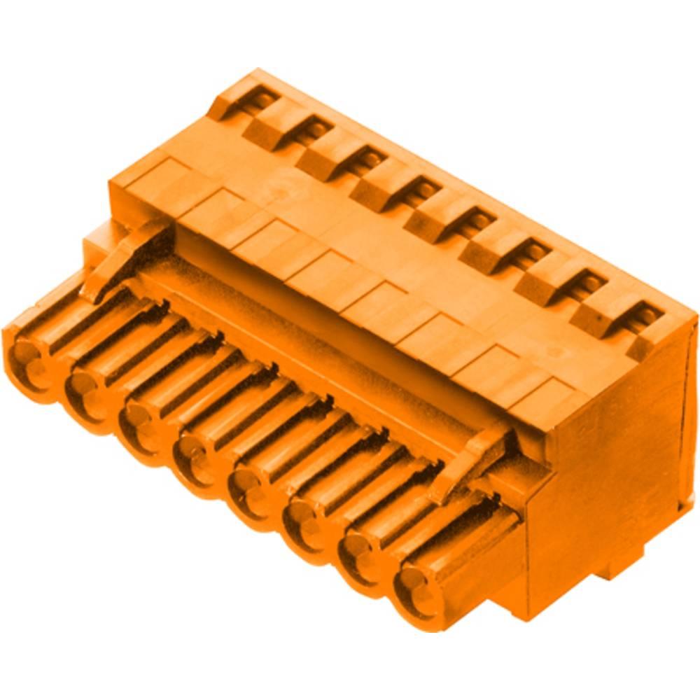 Vtični konektor za tiskana vezja oranžne barve Weidmüller 1982760000 vsebuje: 42 kosa