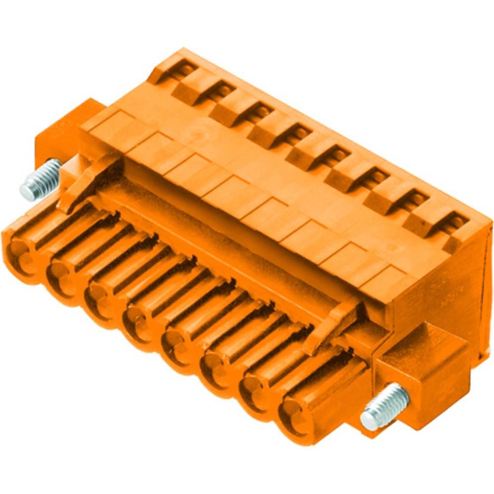 Vtični konektor za tiskana vezja oranžne barve Weidmüller 1982950000 vsebuje: 36 kosov