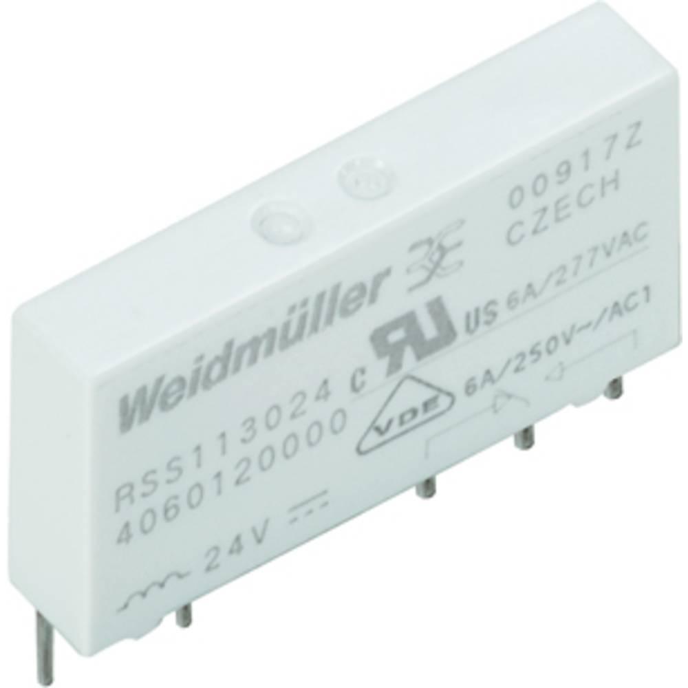 Stikrelæ 24 V/DC 6 A 1 x skiftekontakt Weidmüller RSS112024 24VDC-REL1U 20 stk