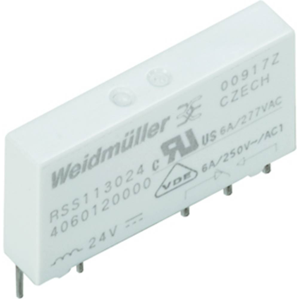 Vtični releji 60 V/DC 6 A 1 x preklopni Weidmüller RSS113060 60VDC-REL1U 20 kosov