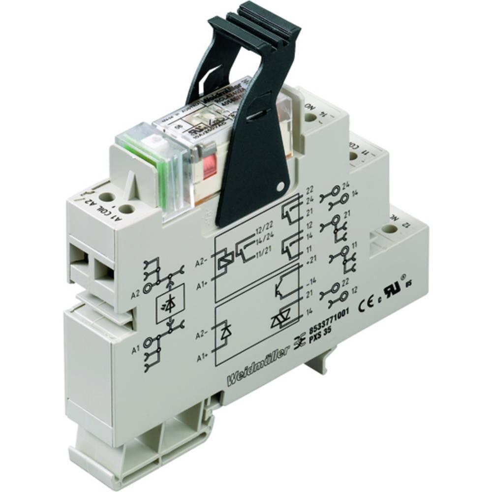 Relækomponent 10 stk Weidmüller PRS 120VAC LD 1CO Nominel spænding: 120 V/AC Brydestrøm (max.): 16 A 1 x skiftekontakt