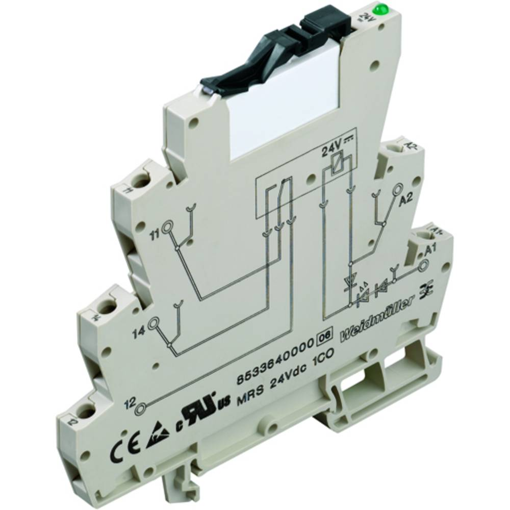 Koppelrelais (value.1292899) 10 stk 24 V/DC, 24 V/AC 6 A 1 Wechsler (value.1345271) Weidmüller MRS 24VUC 1CO