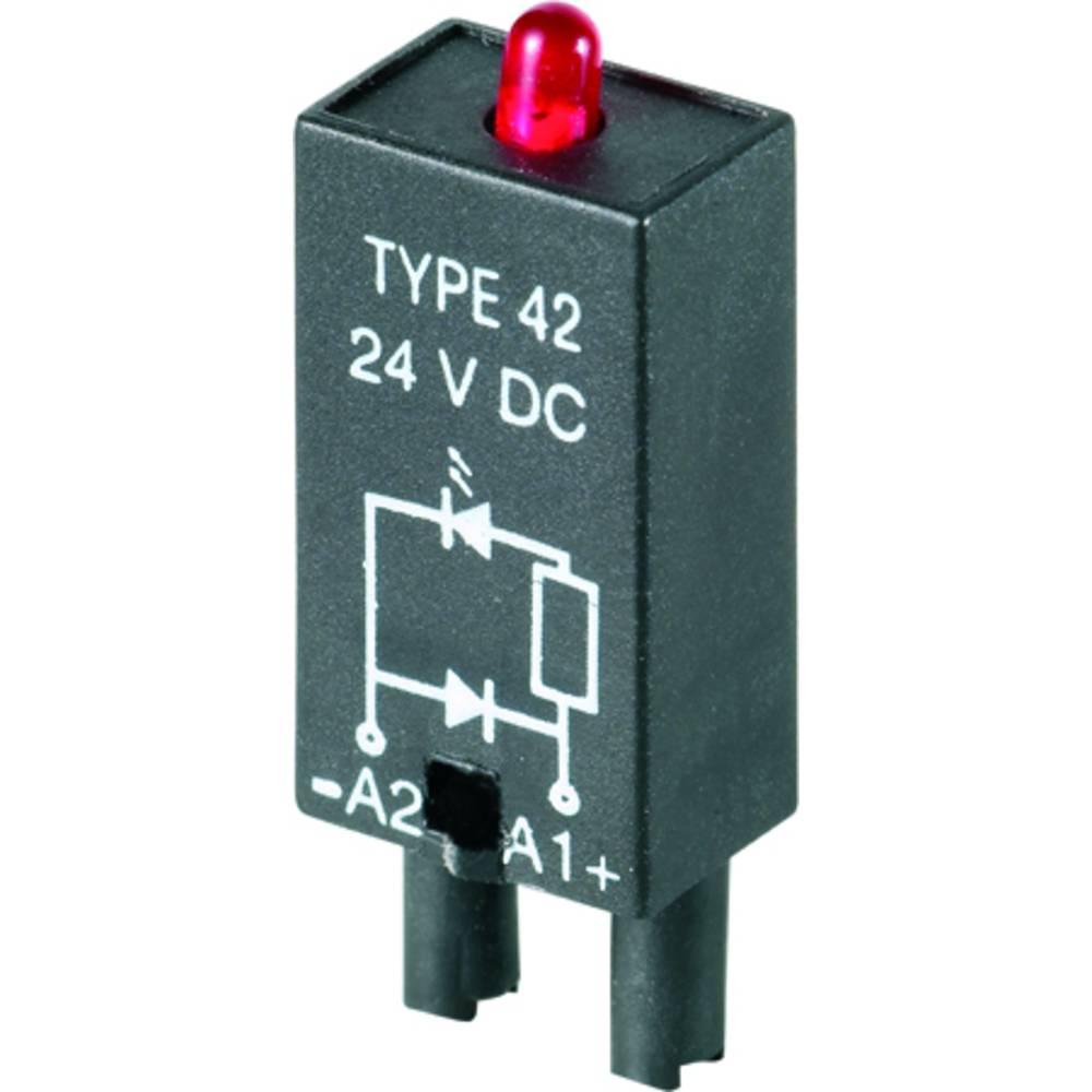 Steckmodul (value.1292944) med LED, Med friløbsdiode 10 stk Weidmüller RIM 2 6 / 24VDC Lysfarve: Rød Passer til serie: Weidmülle