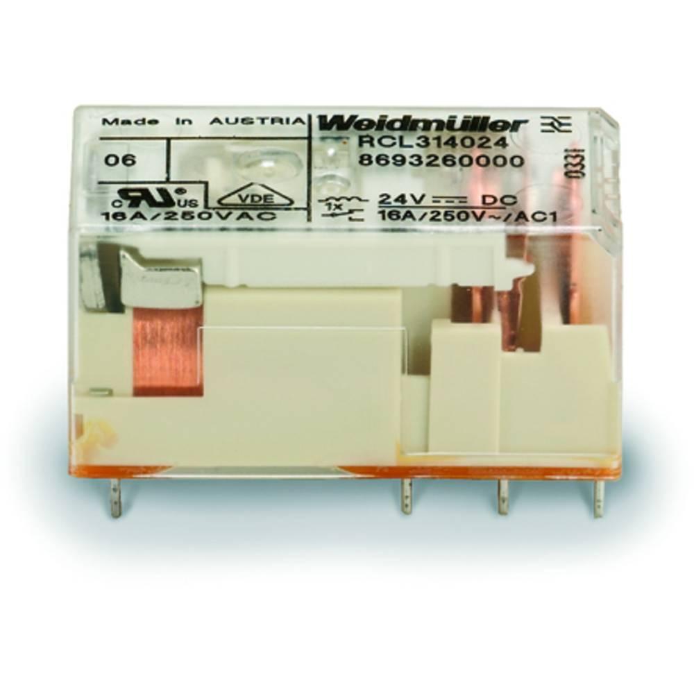 Rele za tiskana vezja 24 V/DC 16 A 1 x preklopni Weidmüller RCL314024 20 kosov