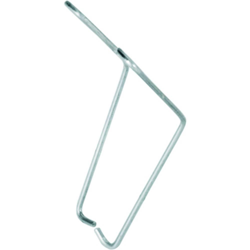 Pritrdilni nosilec srebrne barve, 10 kosov Weidmüller SRC CLIP HM