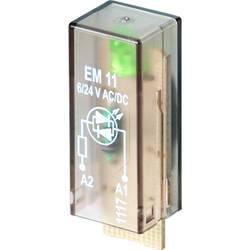 Steckmodul (value.1292944) med LED 10 stk Weidmüller RIM-I 3 6/24VUC GN Lysfarve: Grøn Passer til serie: Weidmüller serie RIDERS