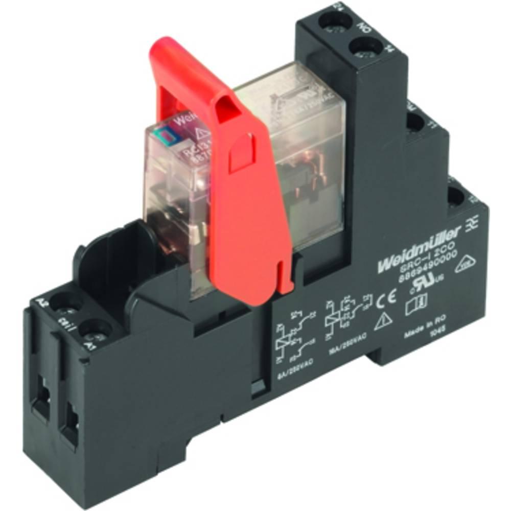 Relaisbaustein (value.1292895) 10 stk Weidmüller RCIKIT 24VDC 1CO LED Nominel spænding: 24 V/DC Brydestrøm (max.): 16 A 1 Wechsl