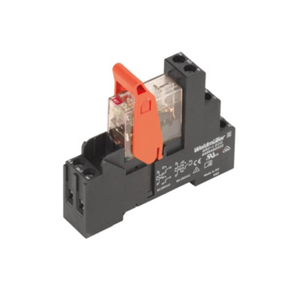 Relækomponent 10 stk Weidmüller RCIKIT 24VAC 1CO LED Nominel spænding: 24 V/AC Brydestrøm (max.): 16 A 1 x skiftekontakt