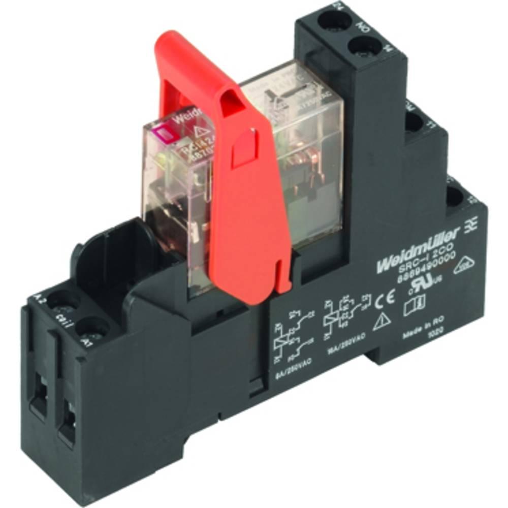 Relaisbaustein (value.1292895) 10 stk Weidmüller RCIKIT 24VAC 2CO LED Nominel spænding: 24 V/AC Brydestrøm (max.): 8 A 2 Wechsle