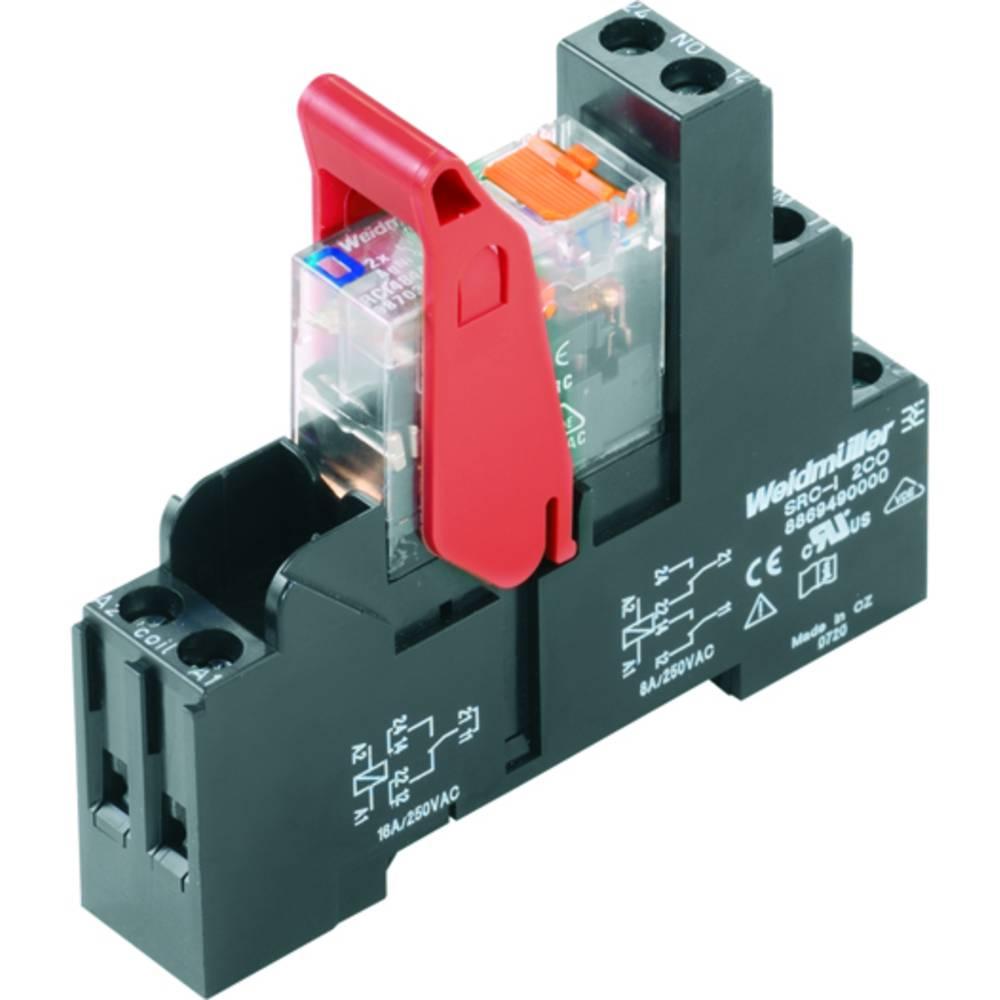 Relækomponent 10 stk Weidmüller RCIKIT 24VDC 2CO LD/PB Nominel spænding: 24 V/DC Brydestrøm (max.): 8 A 2 x omskifter