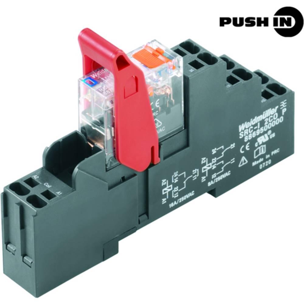 Relækomponent 10 stk Weidmüller RCIKITP 24VDC 1CO LD/PB Nominel spænding: 24 V/DC Brydestrøm (max.): 16 A 1 x skiftekontakt