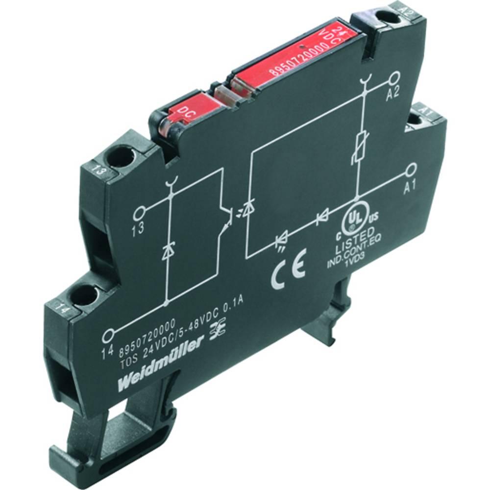 Optokoblerrelæ 10 stk Weidmüller TOS 24VDC/48VDC 0,1A Koblingsspænding (max.): 48 V/DC