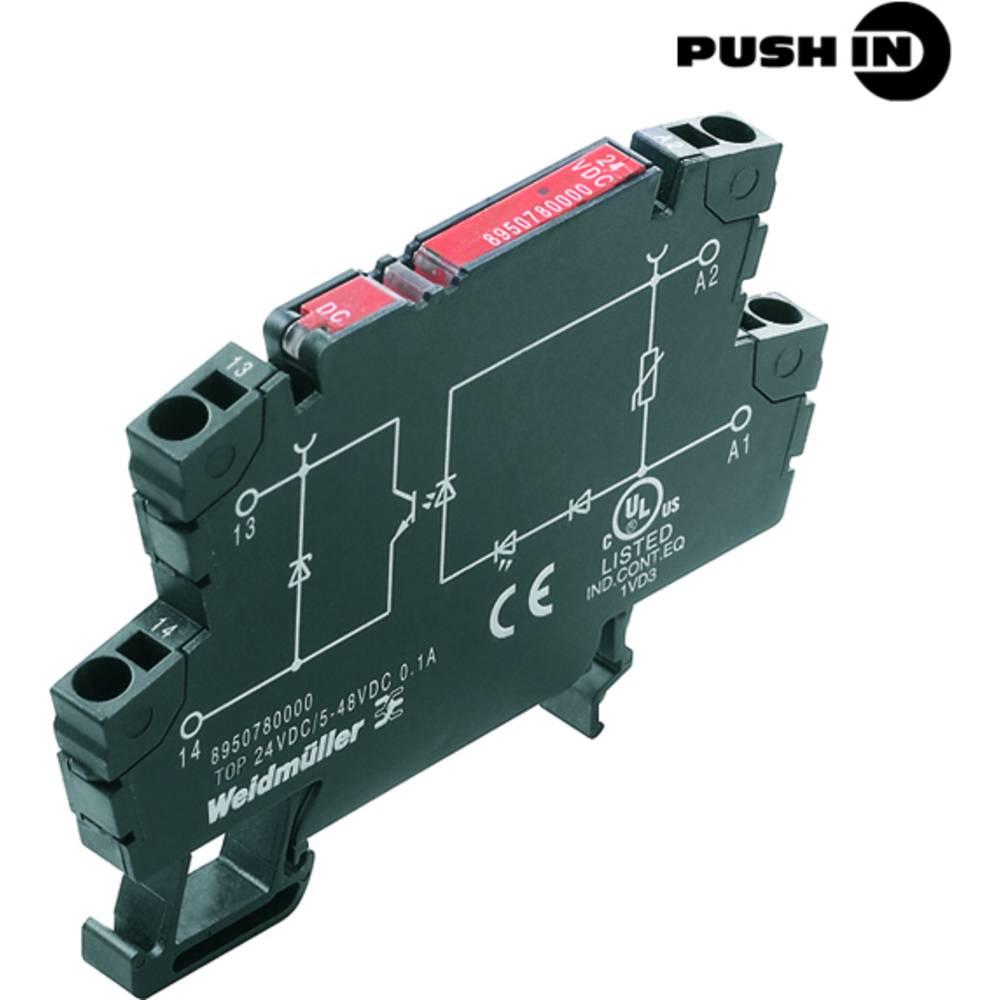 Optokopplerrelais (value.1472423) 10 stk Weidmüller TOP 24VDC/48VDC 0,1A Koblingsspænding (max.): 48 V/DC