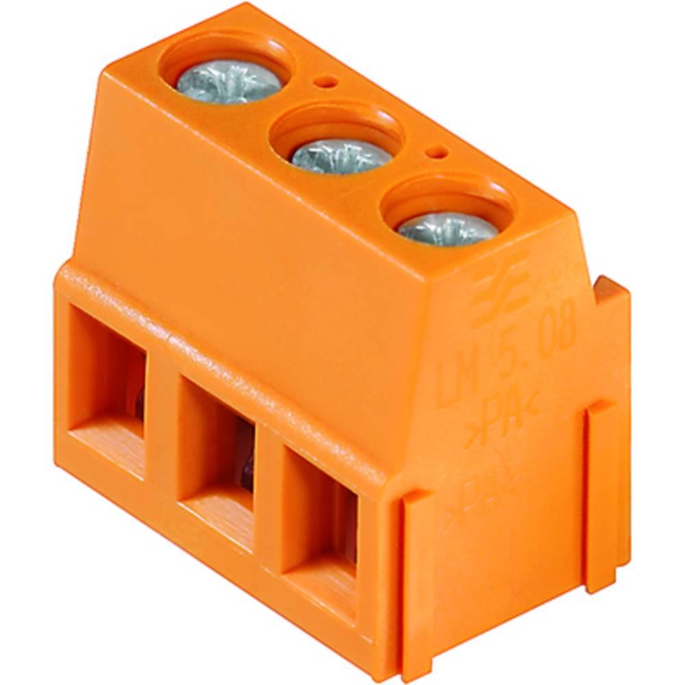 Skrueklemmeblok Weidmüller LM 5.08/24/90 3.5SN OR BX 2.50 mm² Poltal 24 Orange 50 stk